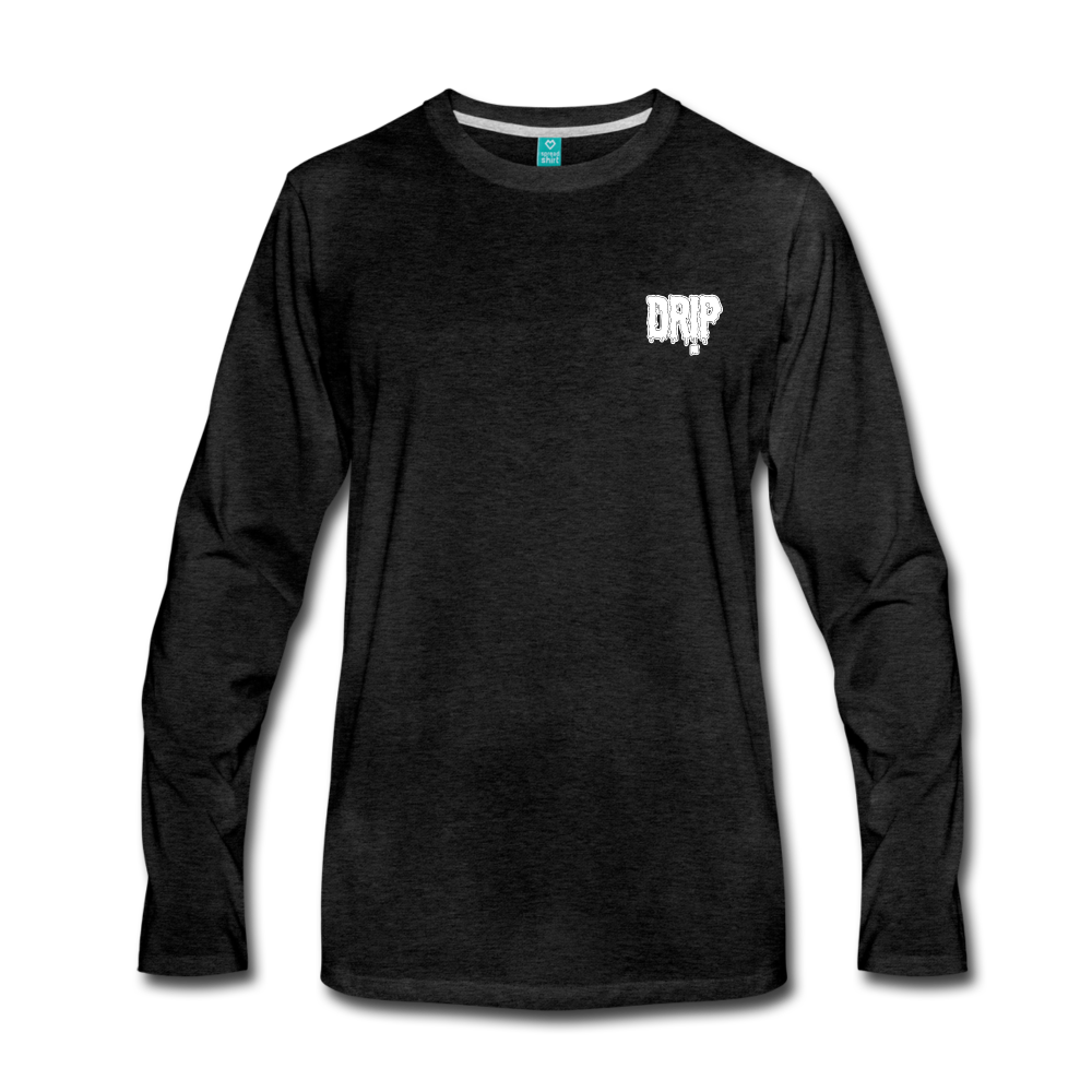 Load image into Gallery viewer, Dre x Jaxon - Drip Long Sleeve (White Design) - charcoal gray