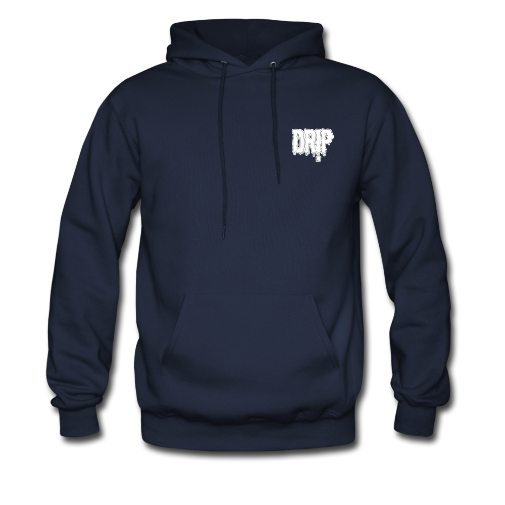 Load image into Gallery viewer, Dre x Jaxon - Drip Hoodie (White Design) - navy