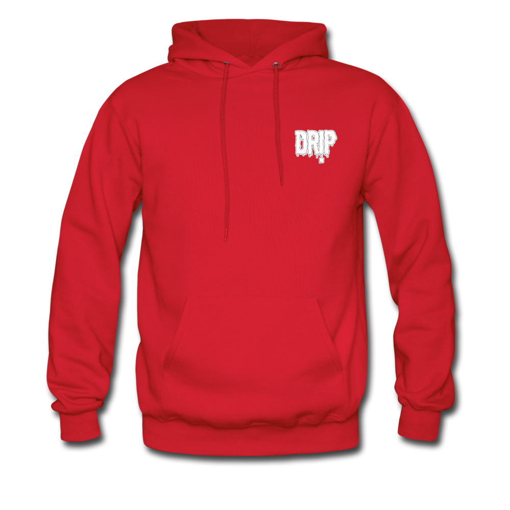 Load image into Gallery viewer, Dre x Jaxon - Drip Hoodie (White Design) - red