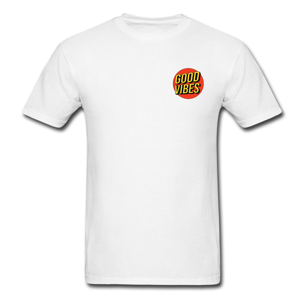 Load image into Gallery viewer, Matt: Good Vibes Shirt - white