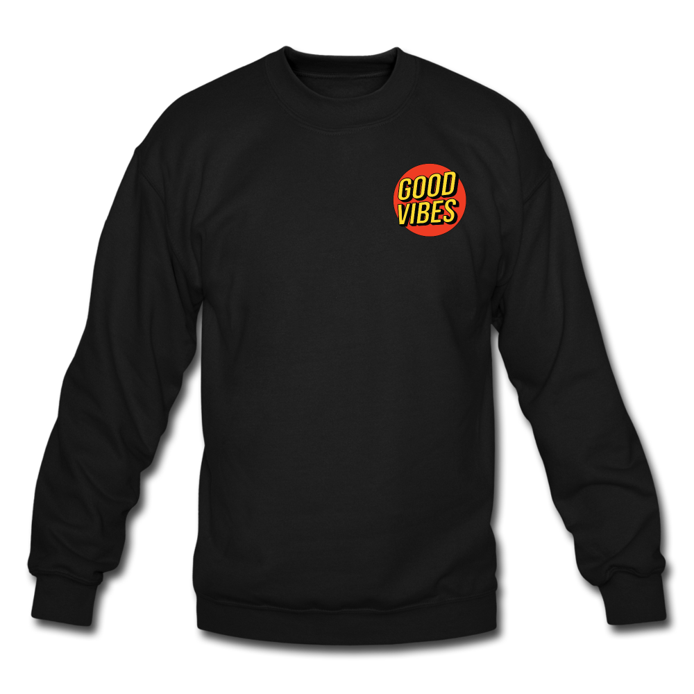 Load image into Gallery viewer, Matt: Good Vibes Sweatshirt - black