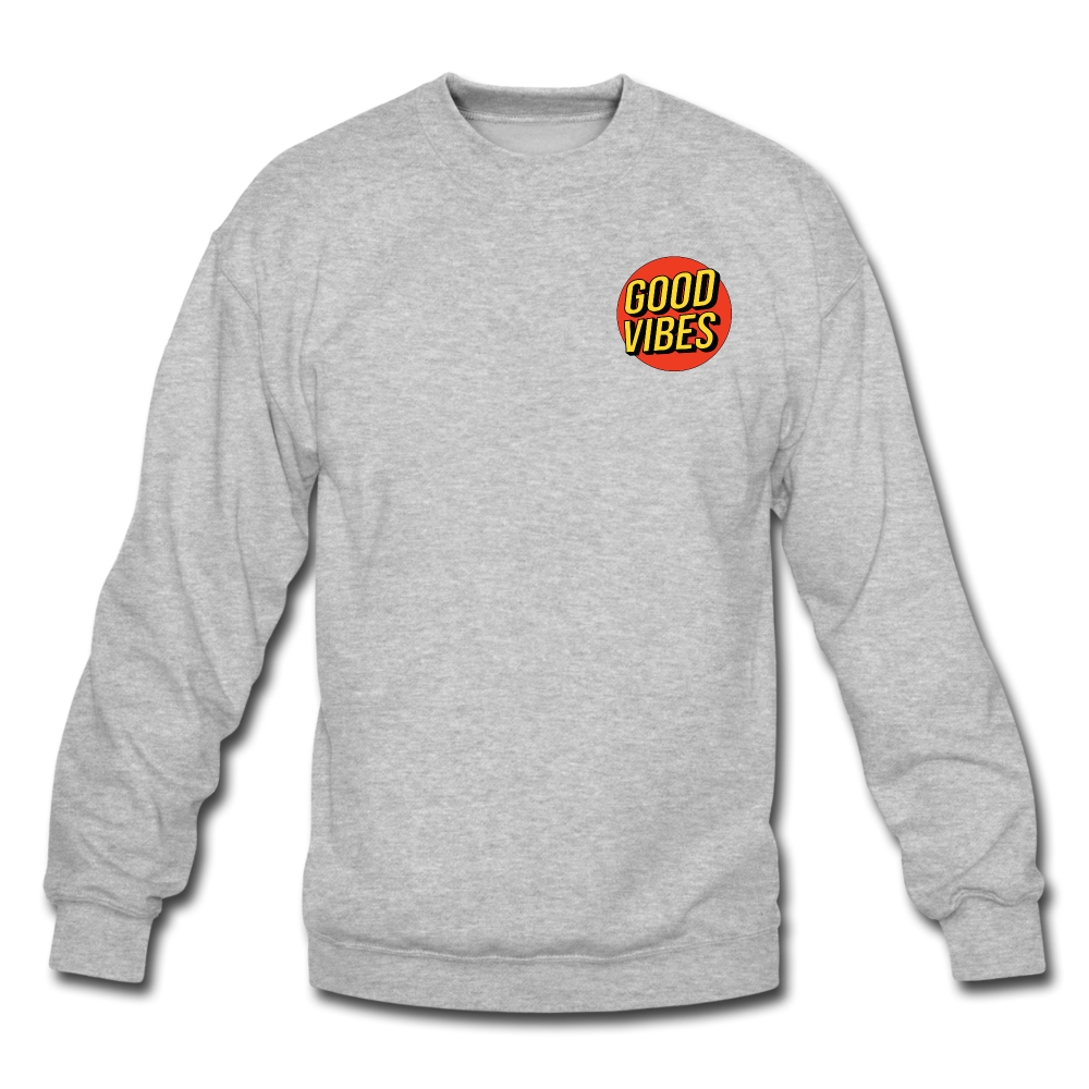Load image into Gallery viewer, Matt: Good Vibes Sweatshirt - heather gray