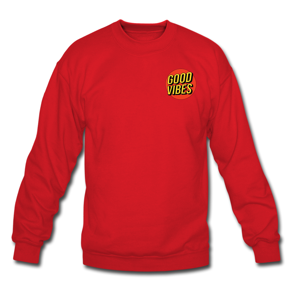 Load image into Gallery viewer, Matt: Good Vibes Sweatshirt - red