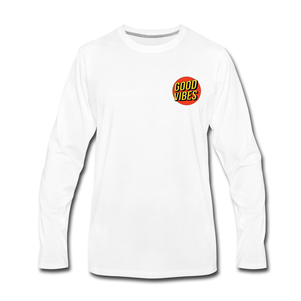 Load image into Gallery viewer, Matt: Good Vibes Long Sleeve - white