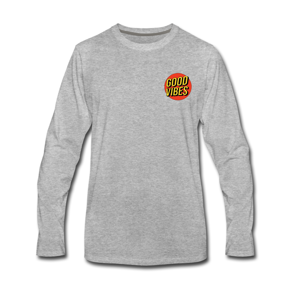 Load image into Gallery viewer, Matt: Good Vibes Long Sleeve - heather gray