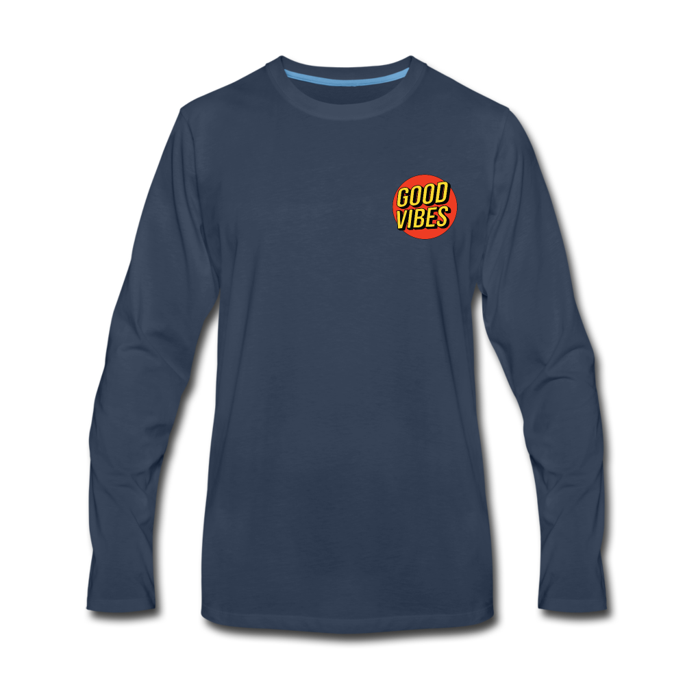 Load image into Gallery viewer, Matt: Good Vibes Long Sleeve - navy