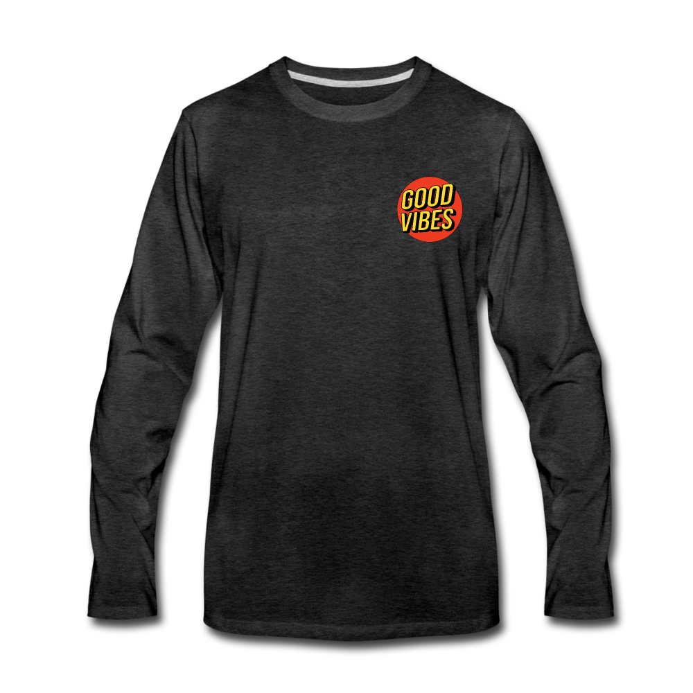 Load image into Gallery viewer, Matt: Good Vibes Long Sleeve - charcoal gray