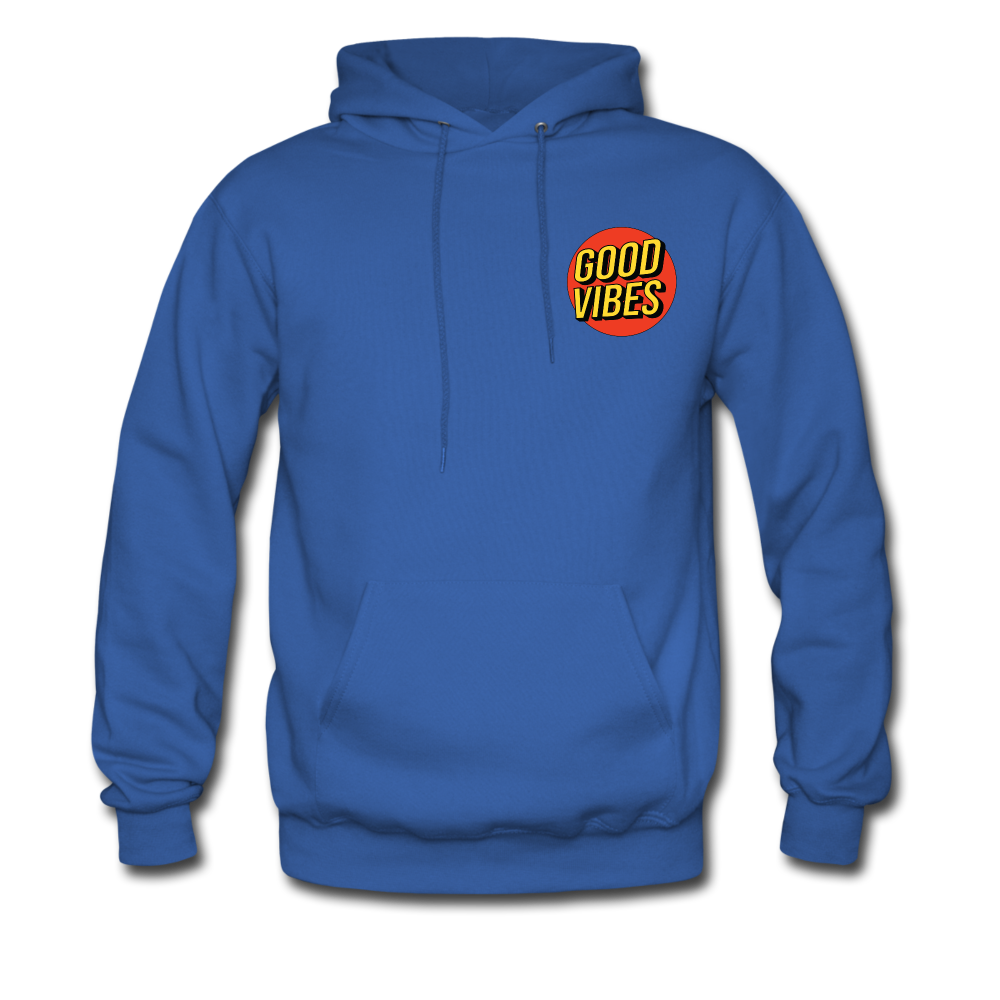 Load image into Gallery viewer, Matt: Good Vibes Hoodie - royal blue