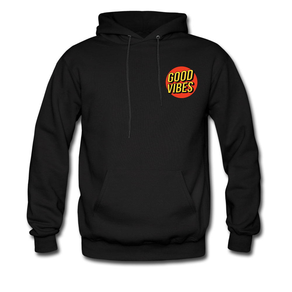 Load image into Gallery viewer, Matt: Good Vibes Hoodie - black