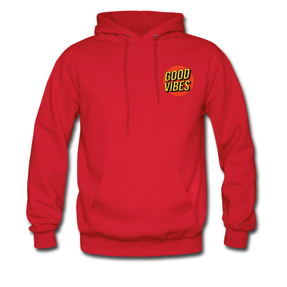 Load image into Gallery viewer, Matt: Good Vibes Hoodie - red