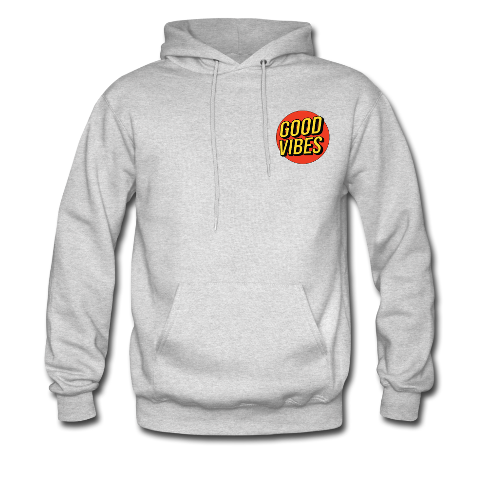 Load image into Gallery viewer, Matt: Good Vibes Hoodie - ash