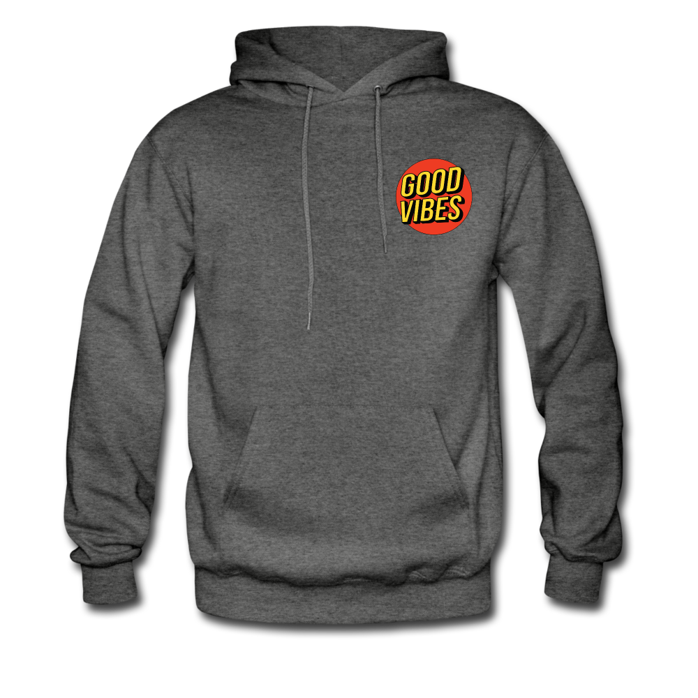 Load image into Gallery viewer, Matt: Good Vibes Hoodie - charcoal gray