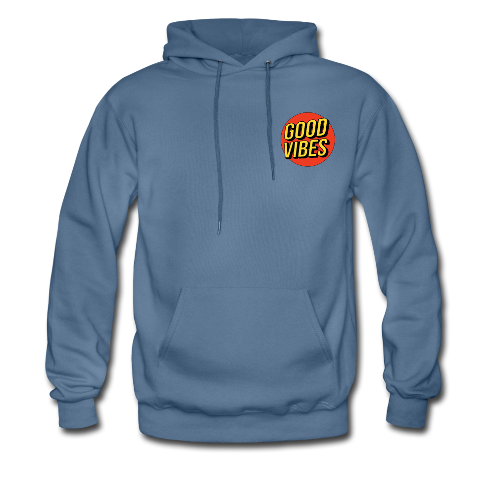 Load image into Gallery viewer, Matt: Good Vibes Hoodie - denim blue