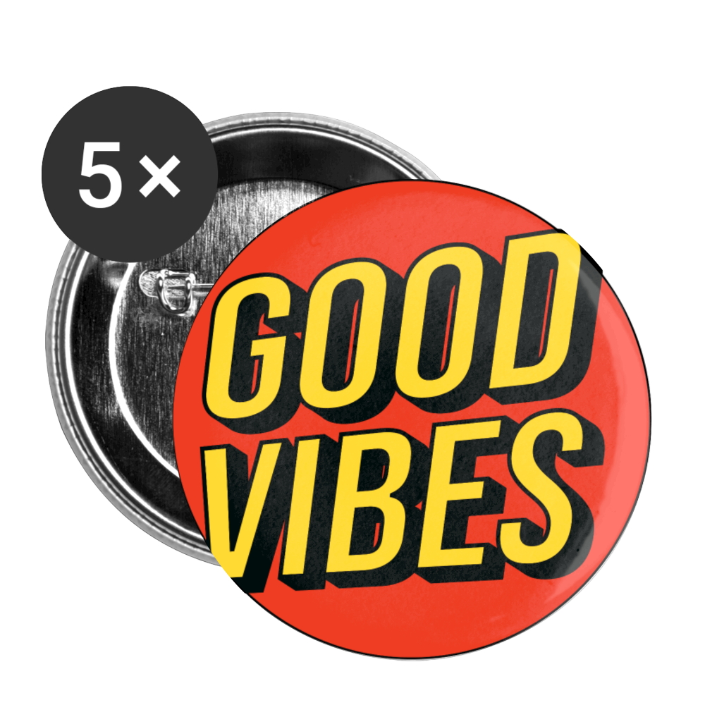 Load image into Gallery viewer, Matt: Good Vibes Buttons Large 2.2'' (5-pack) - white