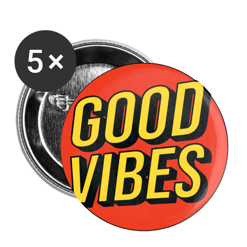 Matt: Good Vibes Buttons Large 2.2'' (5-pack) - white