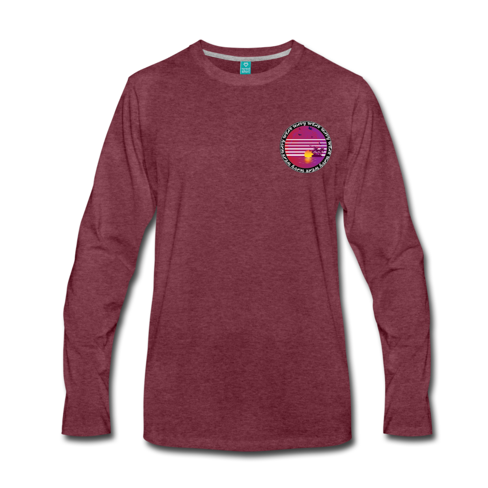 Load image into Gallery viewer, Ryan Wauters: Wavy Wear Long Sleeve - heather burgundy