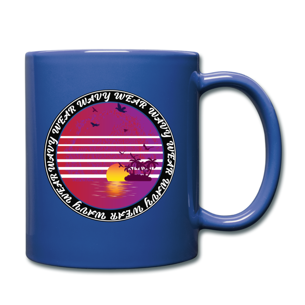 Load image into Gallery viewer, Ryan Wauters: Wavy Wear Mug - royal blue