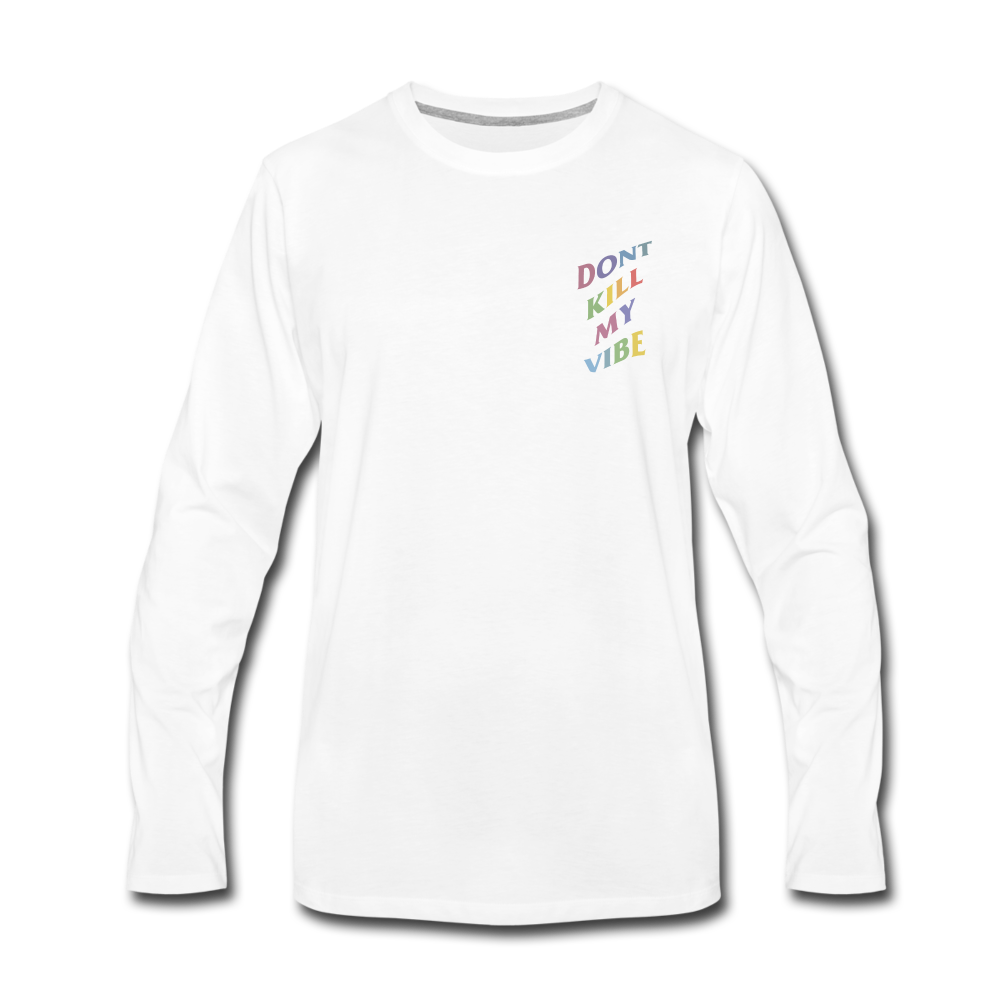 Load image into Gallery viewer, Don't Kill My Vibe Long Sleeve - white