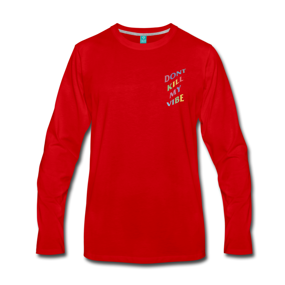 Load image into Gallery viewer, Don't Kill My Vibe Long Sleeve - red