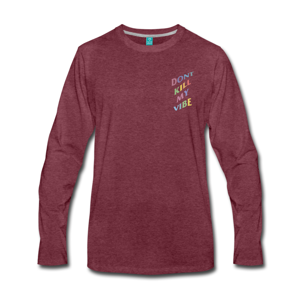 Load image into Gallery viewer, Don't Kill My Vibe Long Sleeve - heather burgundy