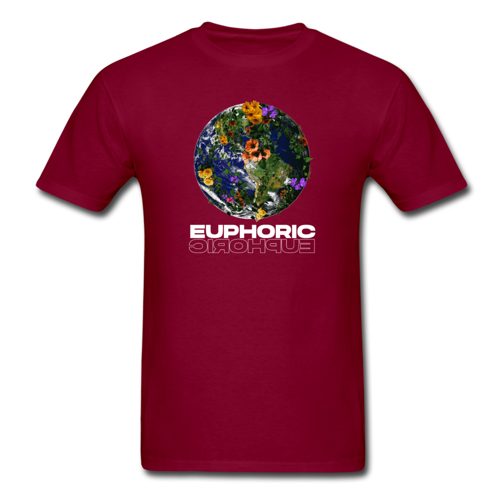 Load image into Gallery viewer, Euphoric Mateo Shirt (Black/White Design) - burgundy