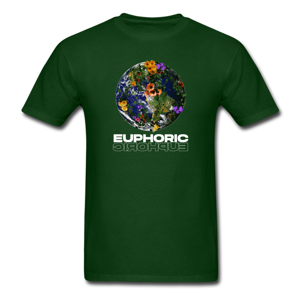 Load image into Gallery viewer, Euphoric Mateo Shirt (Black/White Design) - forest green