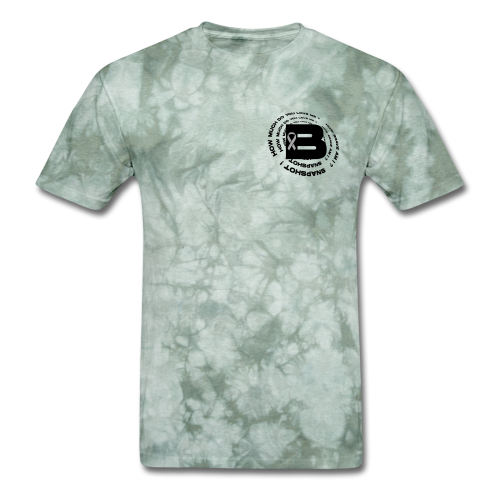 Load image into Gallery viewer, B's Slogan (Black Design) - military green tie dye