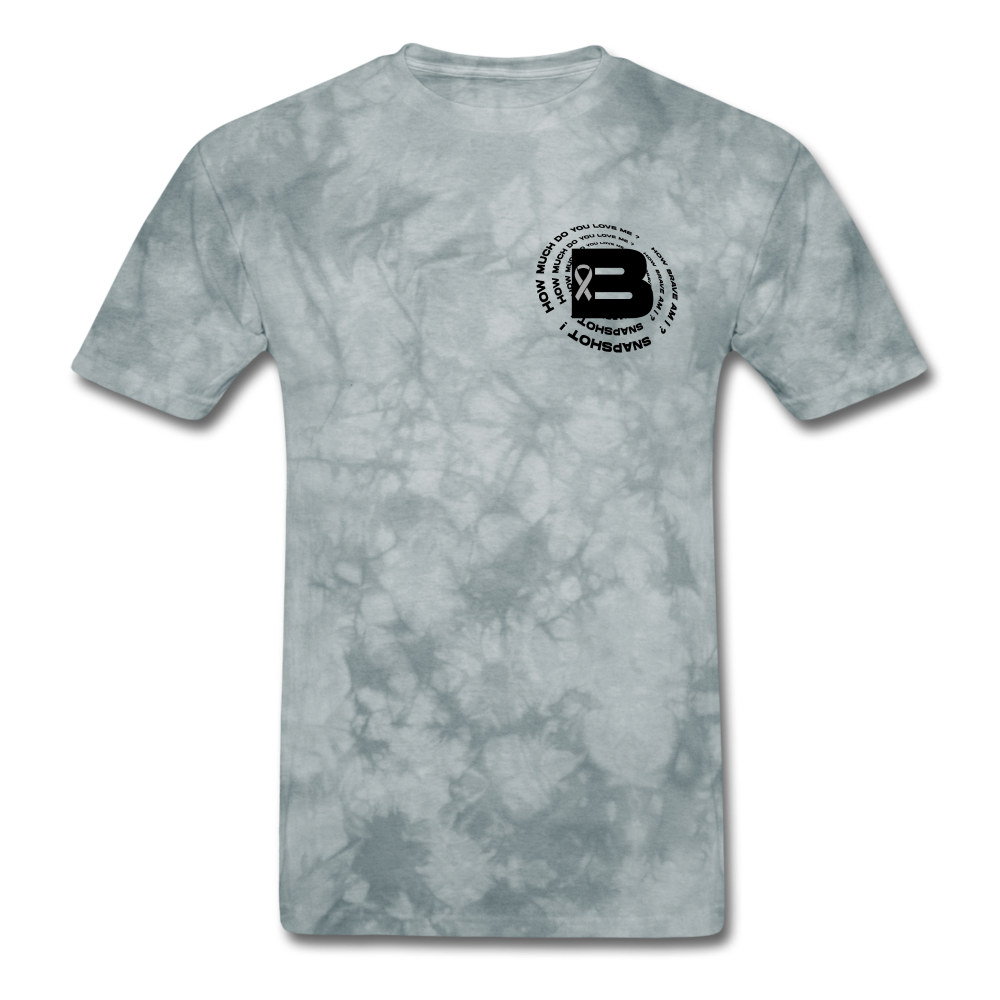 Load image into Gallery viewer, B's Slogan (Black Design) - grey tie dye