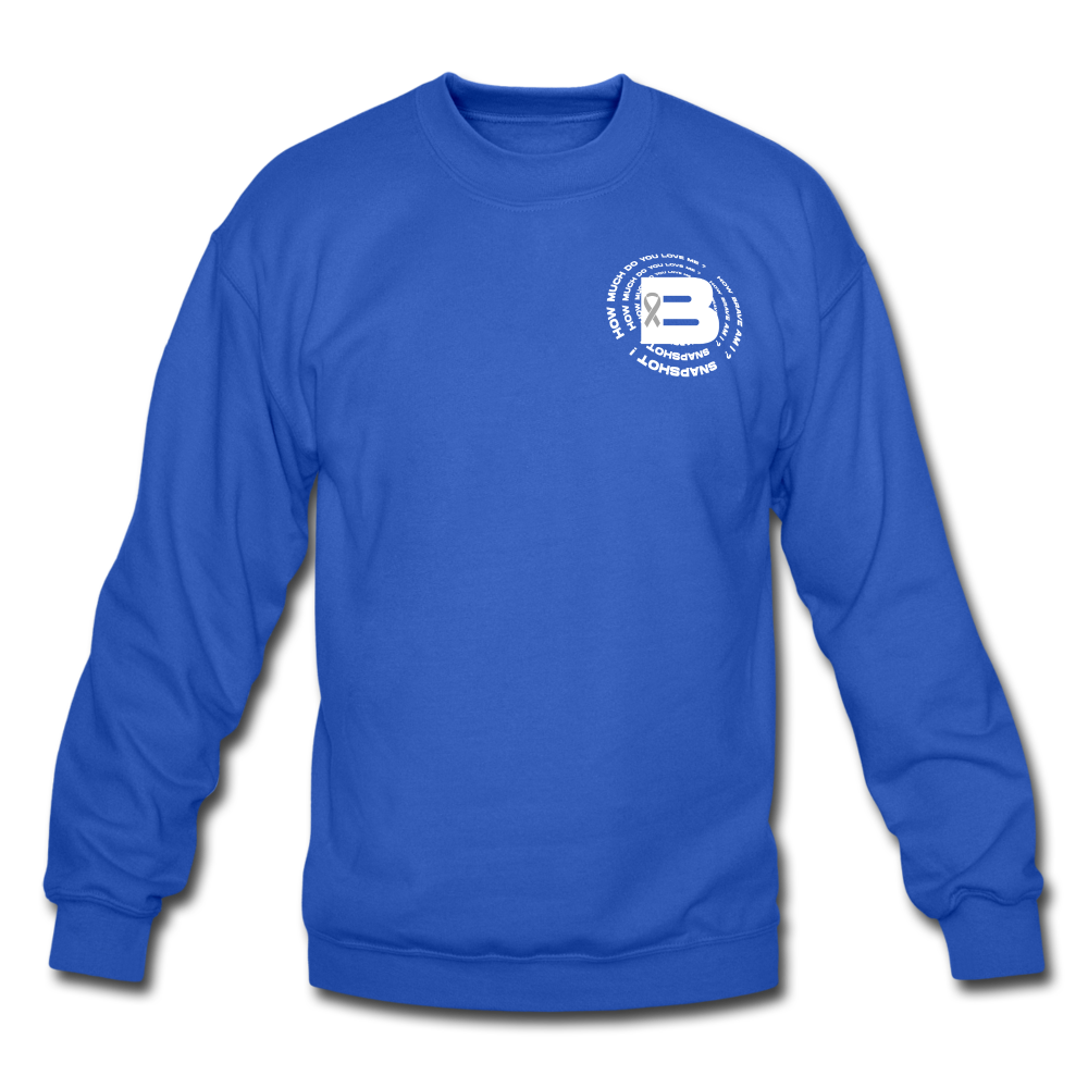 Load image into Gallery viewer, B's Slogan Sweatshirt (White Design) - royal blue
