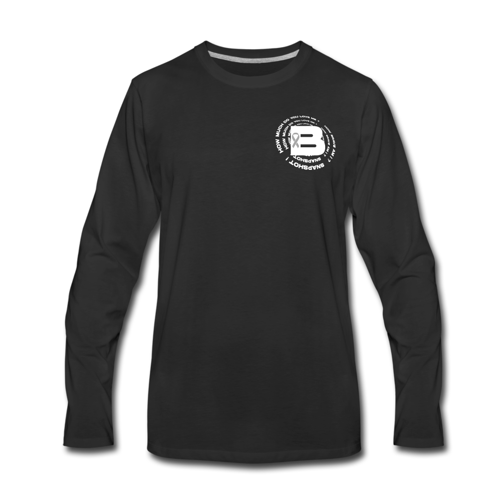 Load image into Gallery viewer, B's Slogan Long Sleeve (White Design) - black