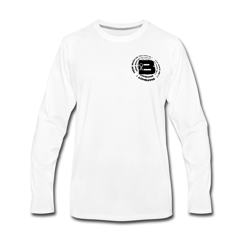 Load image into Gallery viewer, B's Slogan Long Sleeve (Black Design) - white