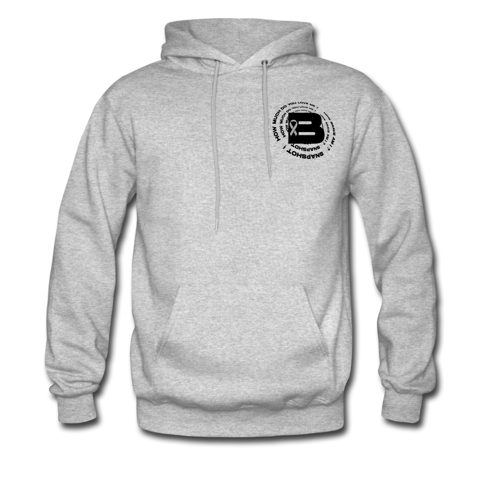Load image into Gallery viewer, B's Slogan Hoodie (Black Design) - heather gray