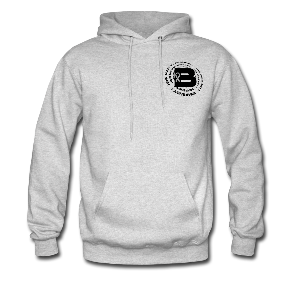 Load image into Gallery viewer, B's Slogan Hoodie (Black Design) - ash