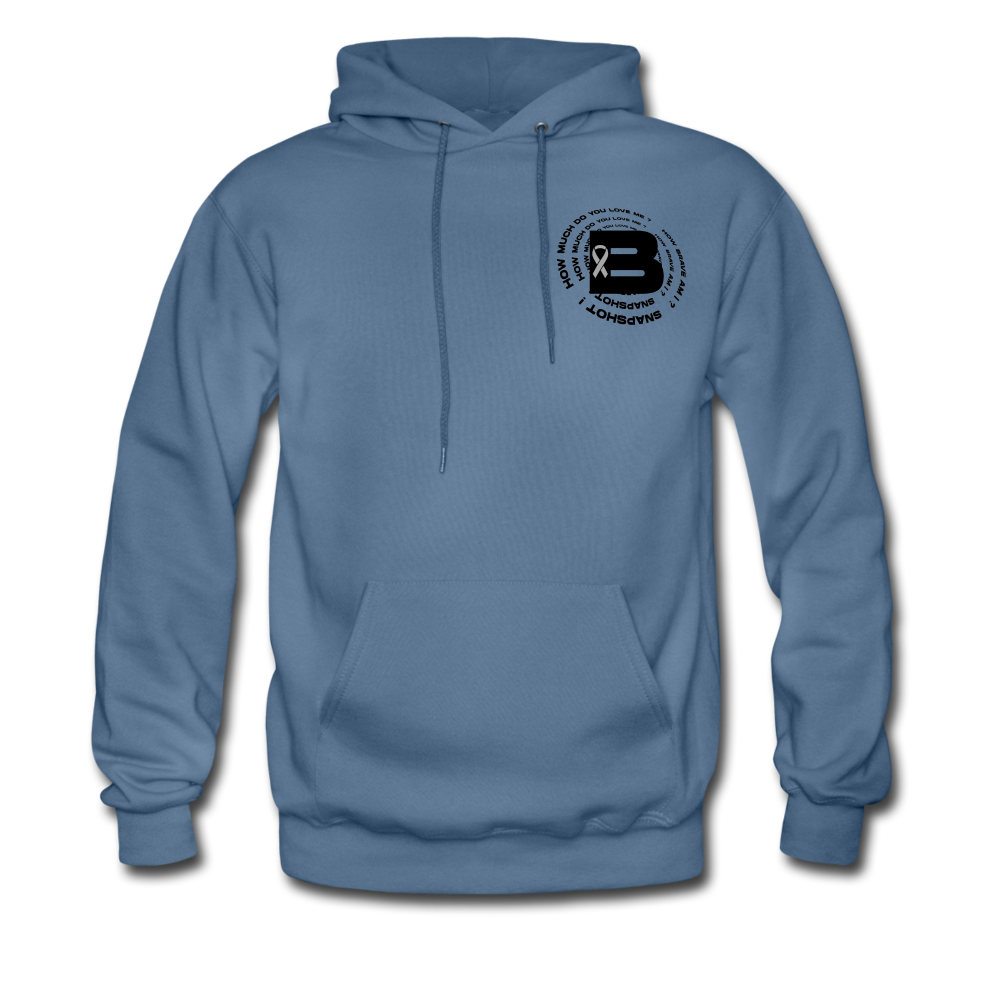 Load image into Gallery viewer, B's Slogan Hoodie (Black Design) - denim blue