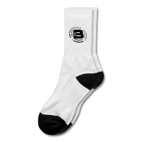 B's Slogan Crew Socks - white