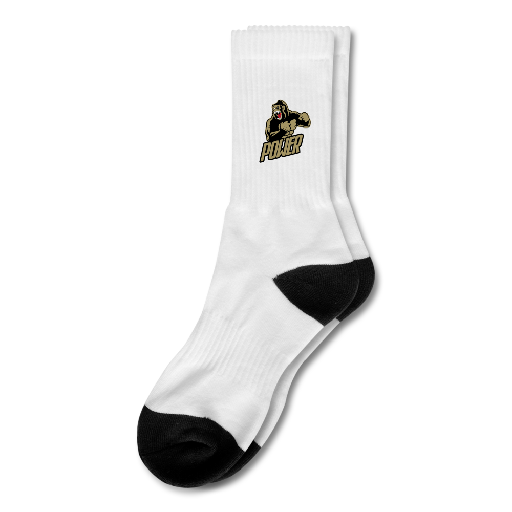 Load image into Gallery viewer, Poloboy Gorilla Crew Socks - white