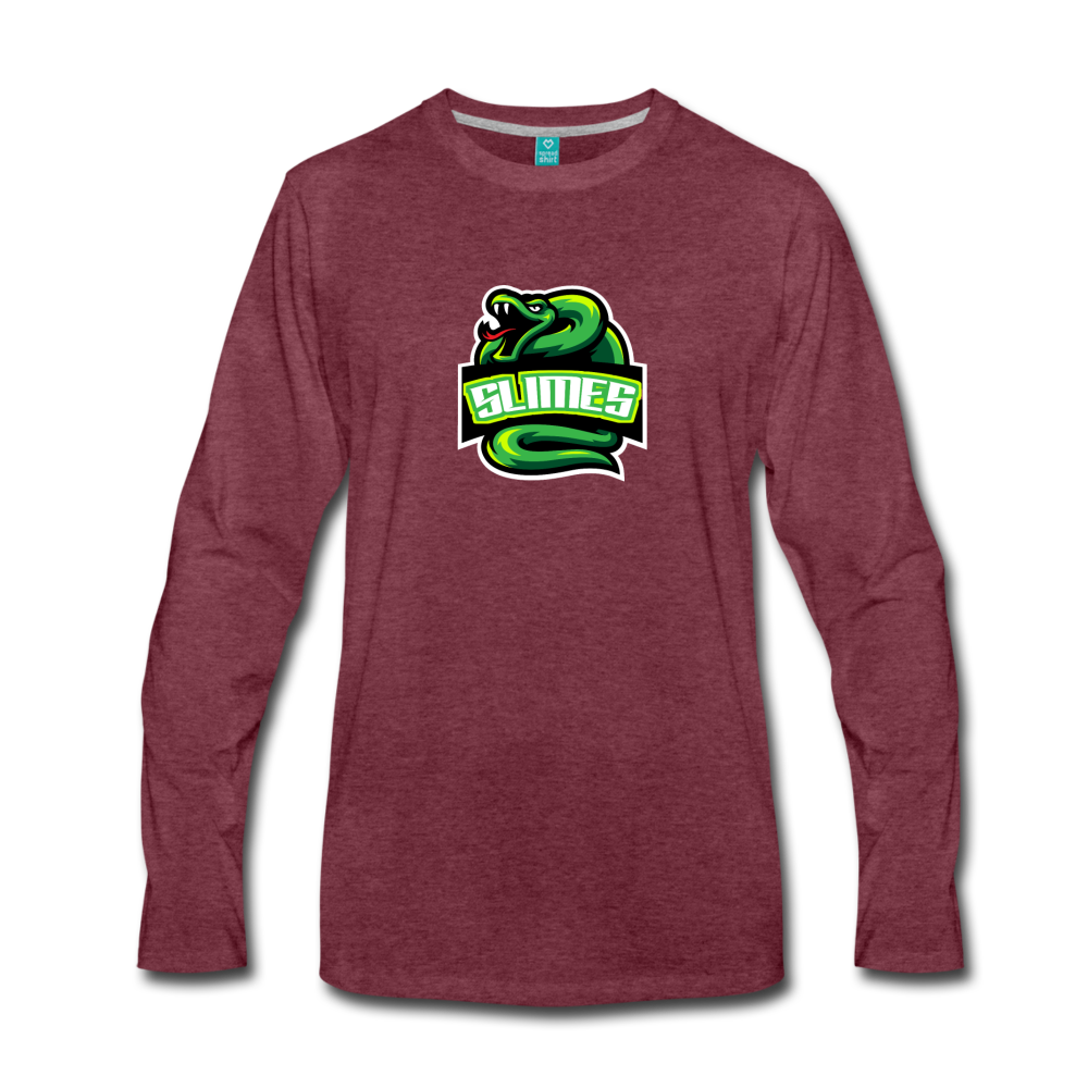 Load image into Gallery viewer, Mike Slime Long Sleeve - heather burgundy