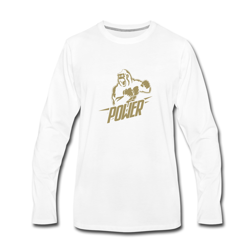 Load image into Gallery viewer, Poloboy Gorilla Long Sleeve - white
