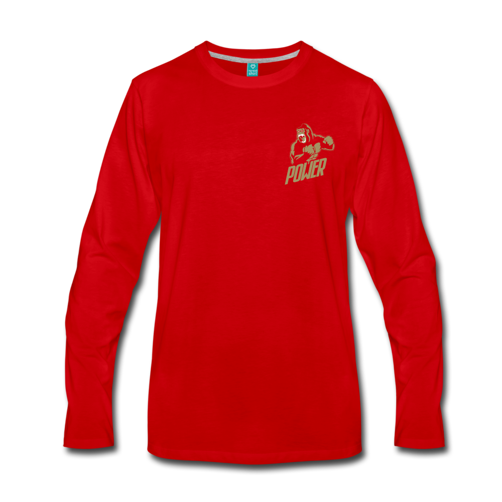 Load image into Gallery viewer, Poloboy Gorilla Long Sleeve - red