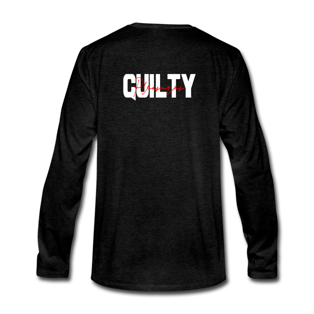"Load image into Gallery viewer, Mason Patterson ""Guilty Pleasures"" Long Sleeve - charcoal gray"