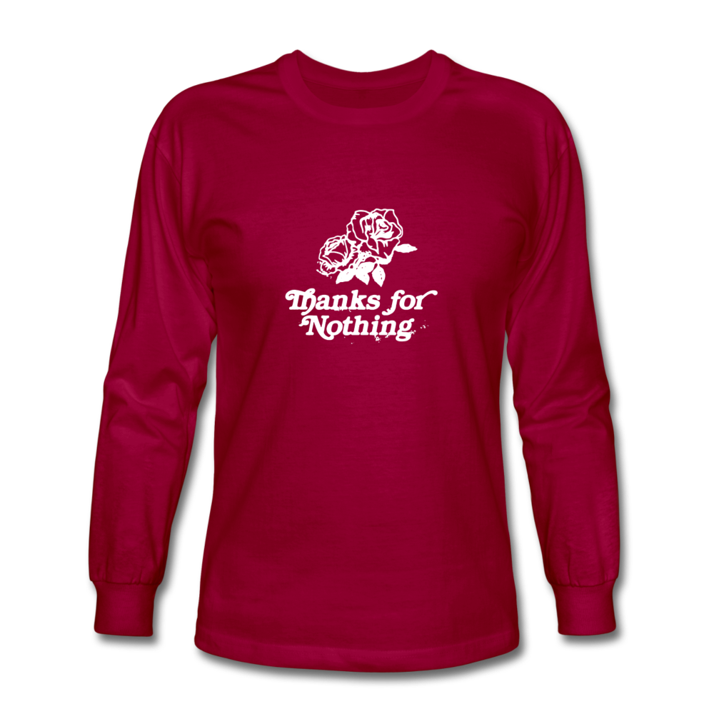 Load image into Gallery viewer, Thanks for Nothing Long Sleeve - dark red