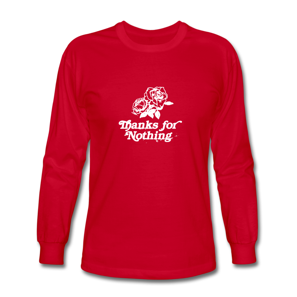 Load image into Gallery viewer, Thanks for Nothing Long Sleeve - red