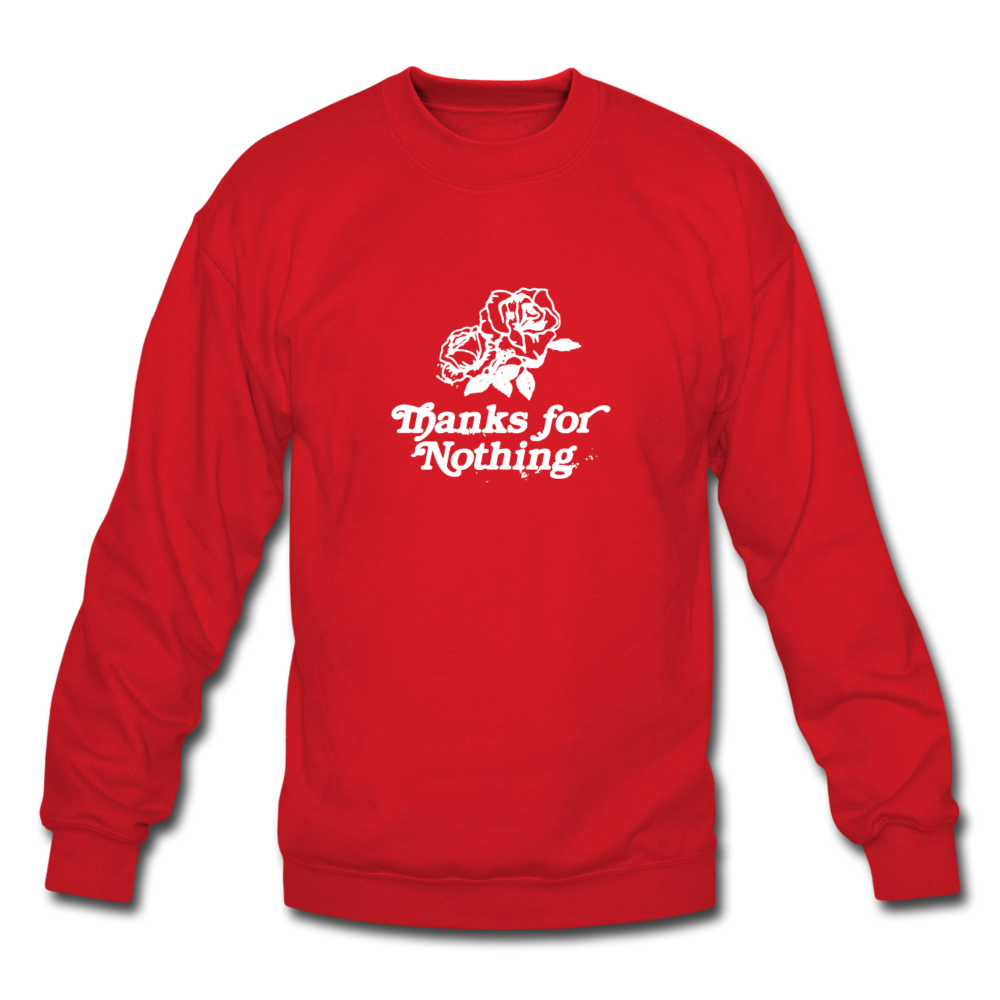Load image into Gallery viewer, Thanks for Nothing Sweatshirt - red