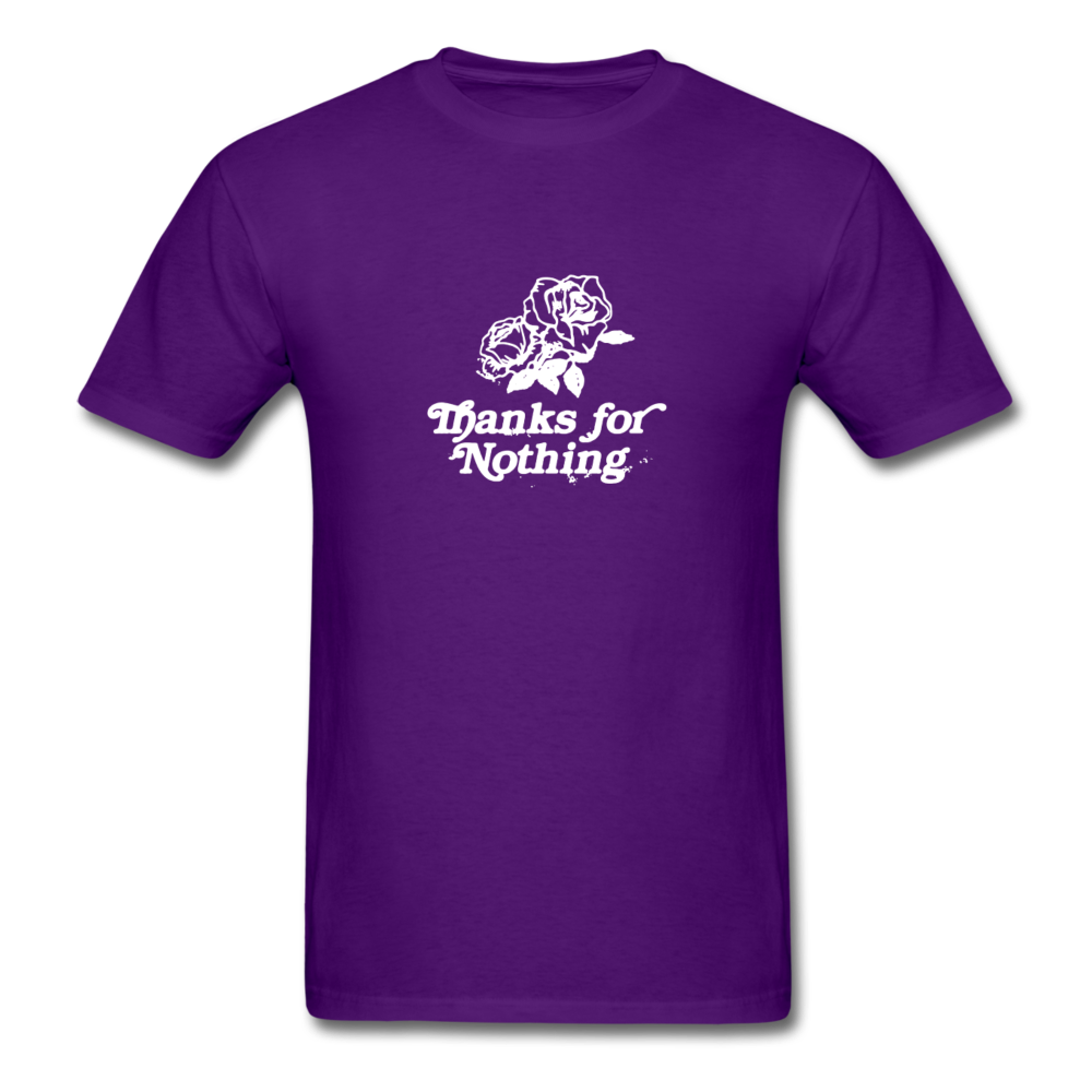 Load image into Gallery viewer, Thanks for Nothing Shirt (White Design) - purple