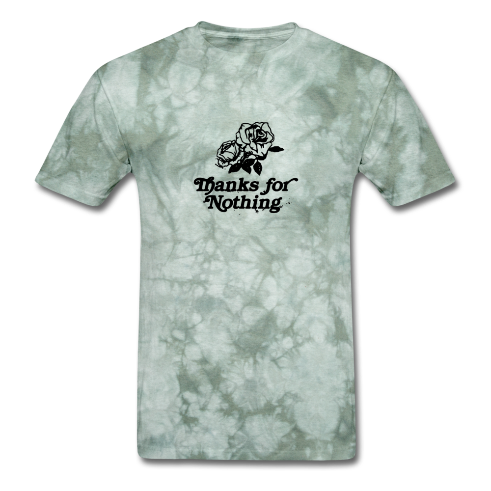 Load image into Gallery viewer, Thanks for Nothing Shirt - military green tie dye