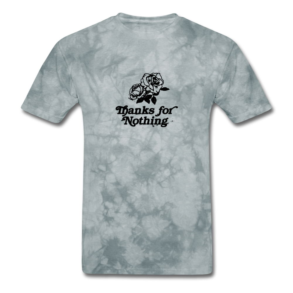Load image into Gallery viewer, Thanks for Nothing Shirt - grey tie dye