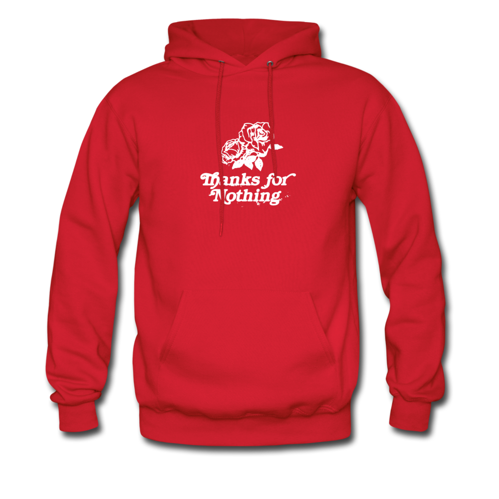Load image into Gallery viewer, Thanks for Nothing Hoodie - red
