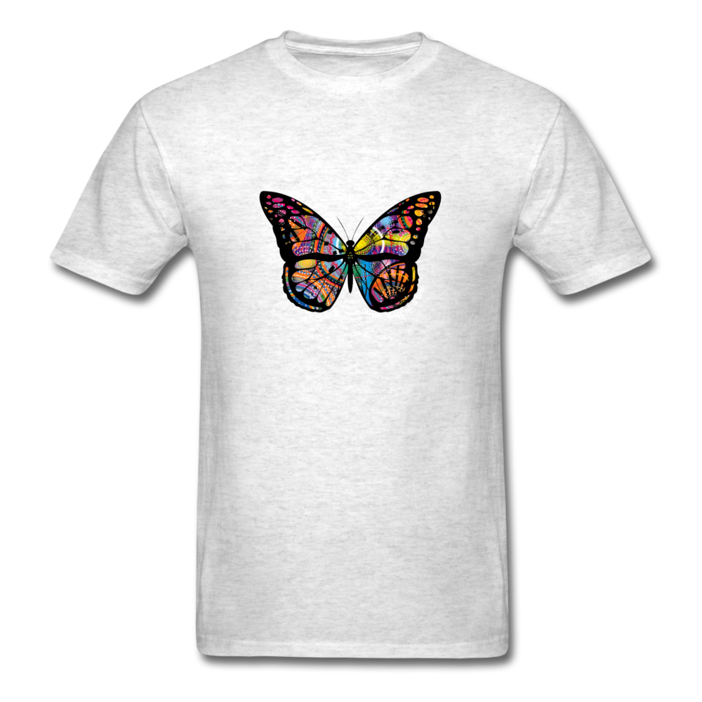 Load image into Gallery viewer, One Day At a Time Butterfly Shirt - light heather gray