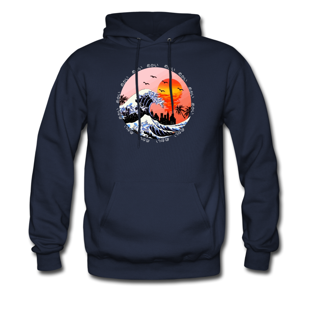 Load image into Gallery viewer, Jalen Mekai Wave Hoodie - navy