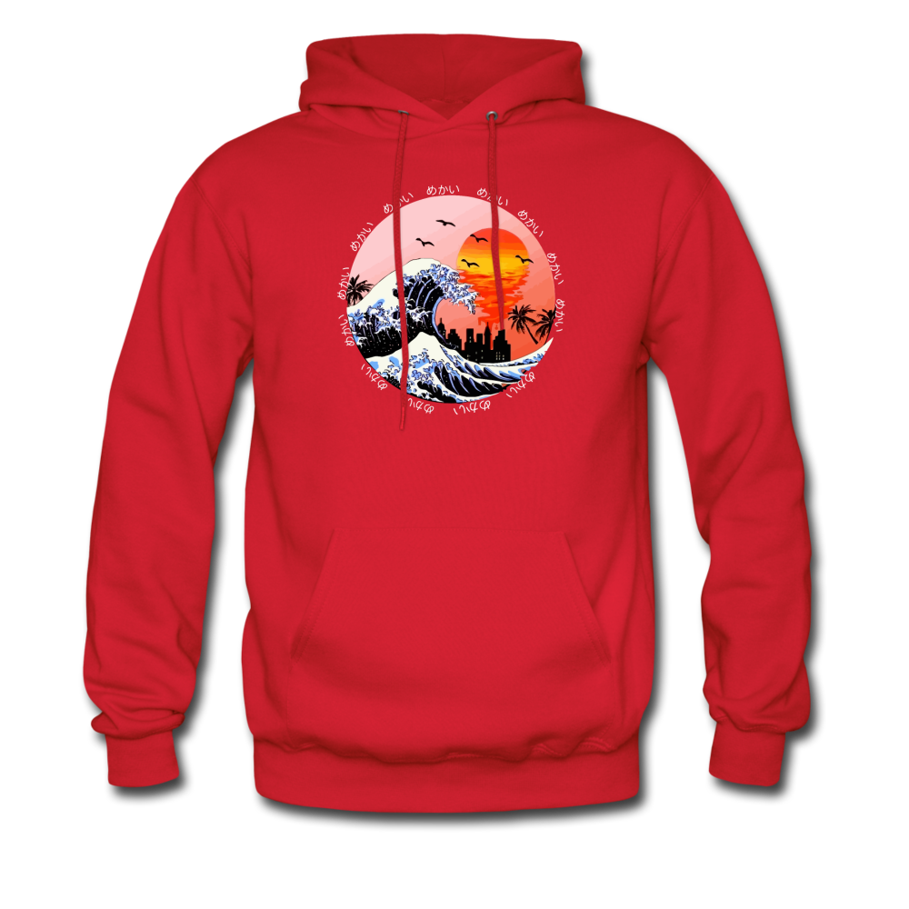 Load image into Gallery viewer, Jalen Mekai Wave Hoodie - red